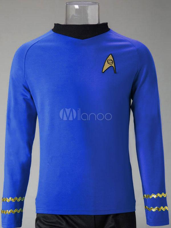 Buy Star Trek Spock Cosplay Costume Long Sleeve T Shirt Halloween for $53.09 in Milanoo store