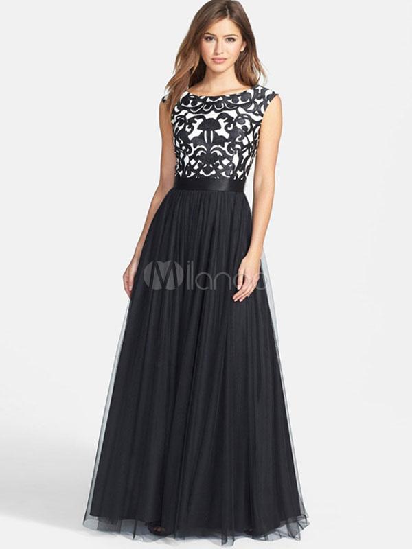Nero Maxi abito stampa floreale senza maniche V indietro lungo abito  plissettato-No.1 ... 96895fad7e4