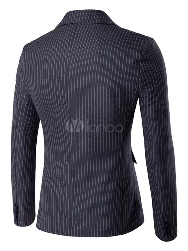 blazer for men veste rayures deux boutons blazer d contract bleu marine. Black Bedroom Furniture Sets. Home Design Ideas