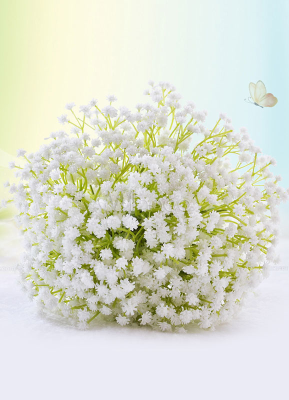 Buy Wedding Flowers Bouquet White Lace Bow Silk Flowers Hand Tied Bridal Bouquet for $26.59 in Milanoo store