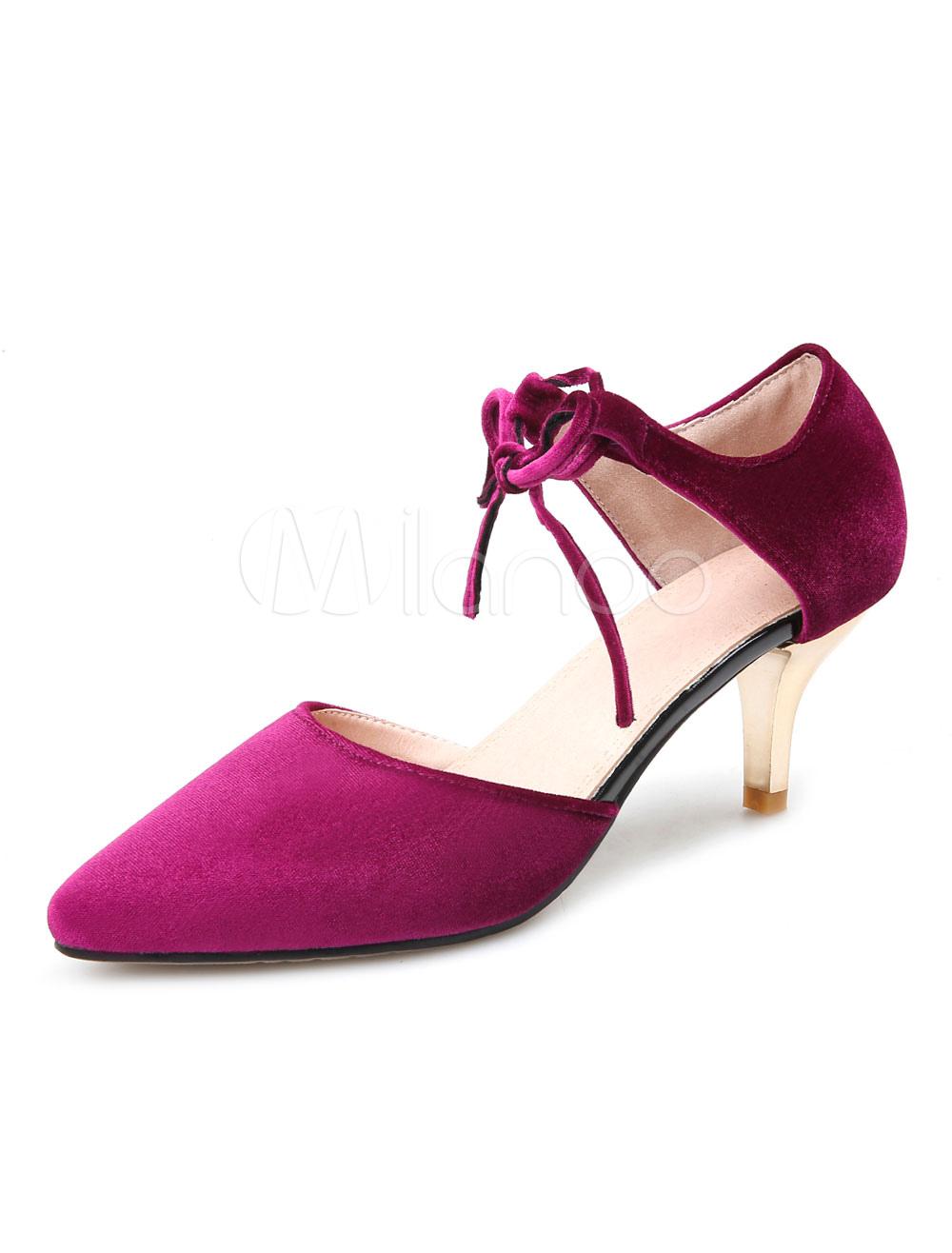 Zapatos de tacón medio Cuero con apariencia suave Color liso estilo moderno G3sAGnp