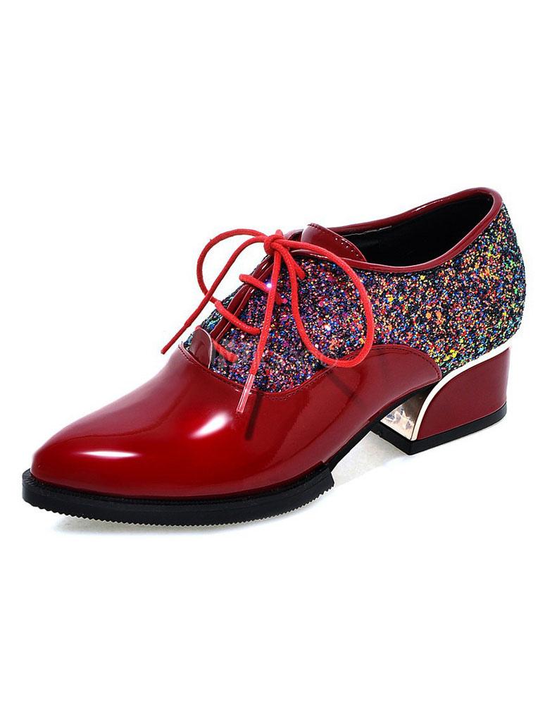 Zapatos con cinta Tela-brillantes estilo informalOtoño/Primavera TDzmT8eF
