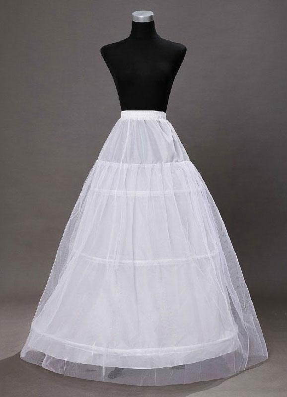 Ivory Wedding Petticoats Taffeta A Line 1 Layer 3 Hoop Bridal Petticoats