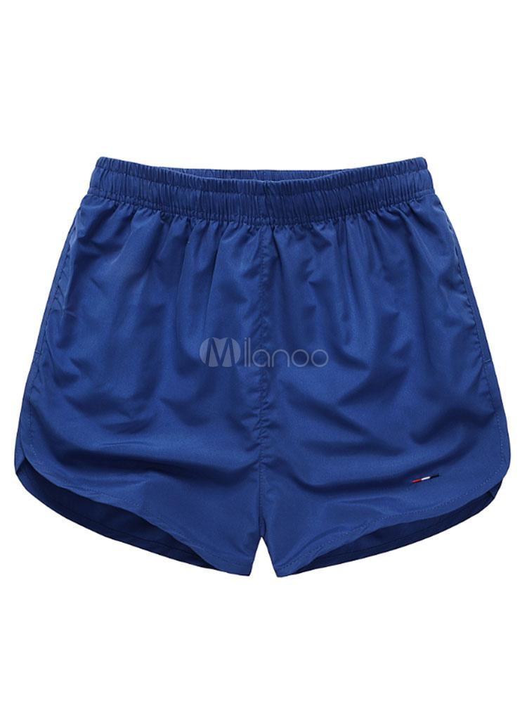 Men's Swim Shorts Royal Blue Elastic Waist Summer Beach Swim Trunks