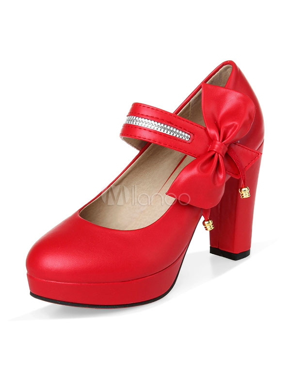 Negro dedo del pie redondo Mary Jane zapatos de de de tacón alto mujeres 881f12