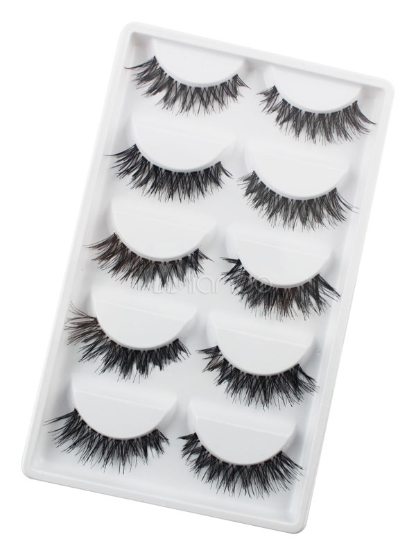 Black Synthetic False Eyelashes In 10 Pairs Cheap clothes, free shipping worldwide