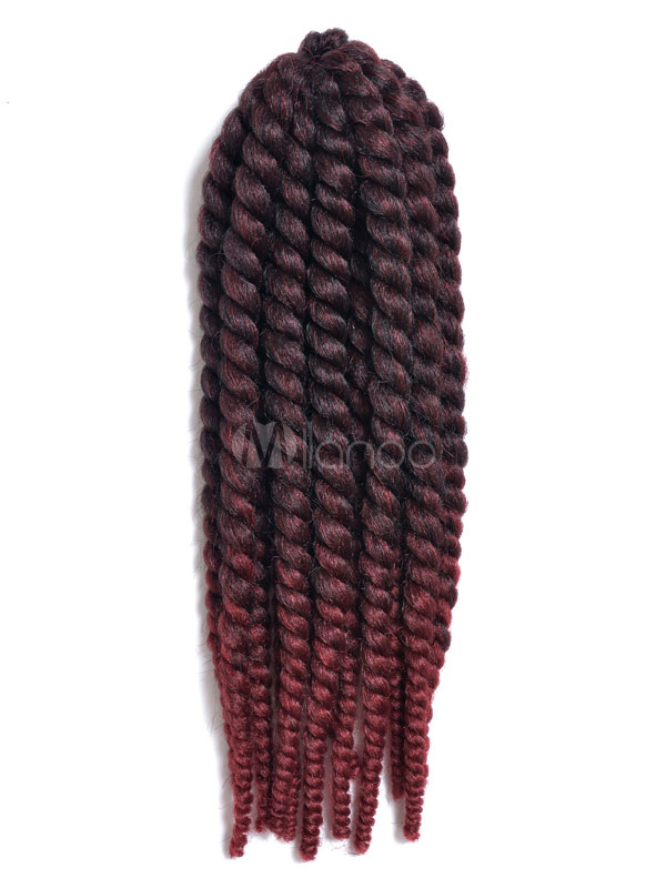 Crochet Braid Hair Burgundy Ombre Rope Twist Havana Mambo Africa American Hair Extensions Halloween