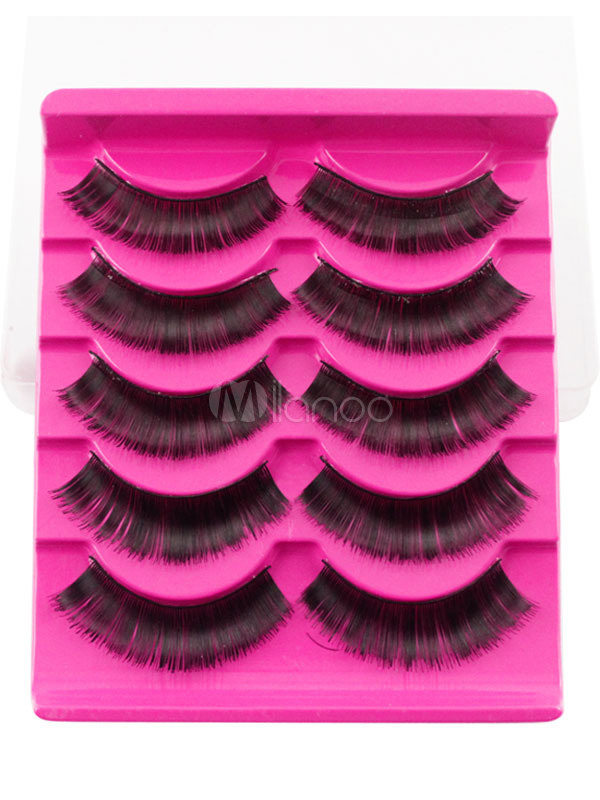 Buy Black False Eyelashes Women's Microfiber Natural Eyelash Extension for $1.79 in Milanoo store