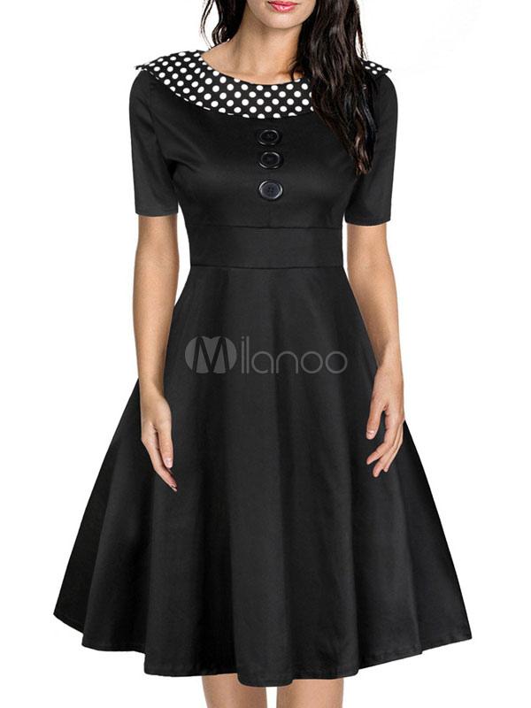 Vestido negro vintage