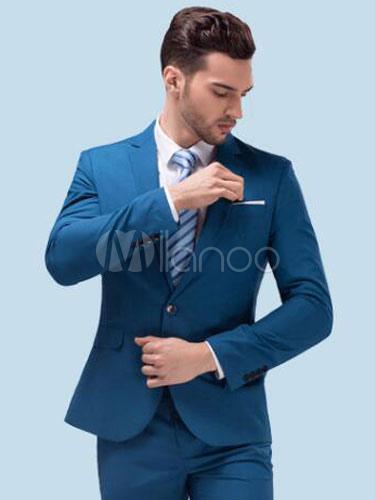 Tuxedo Wedding Suits Men's Formal Center Vent Notch Laple Groom Suits