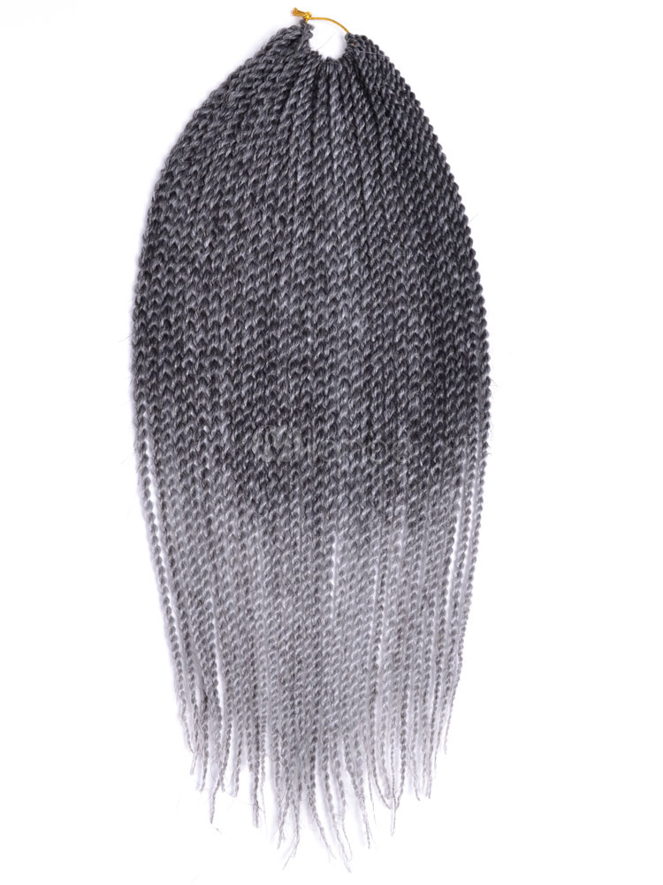 Braid Hair Extensions Crochet Havana Mambo Twisted Light Gray Ombre Braiding Hair