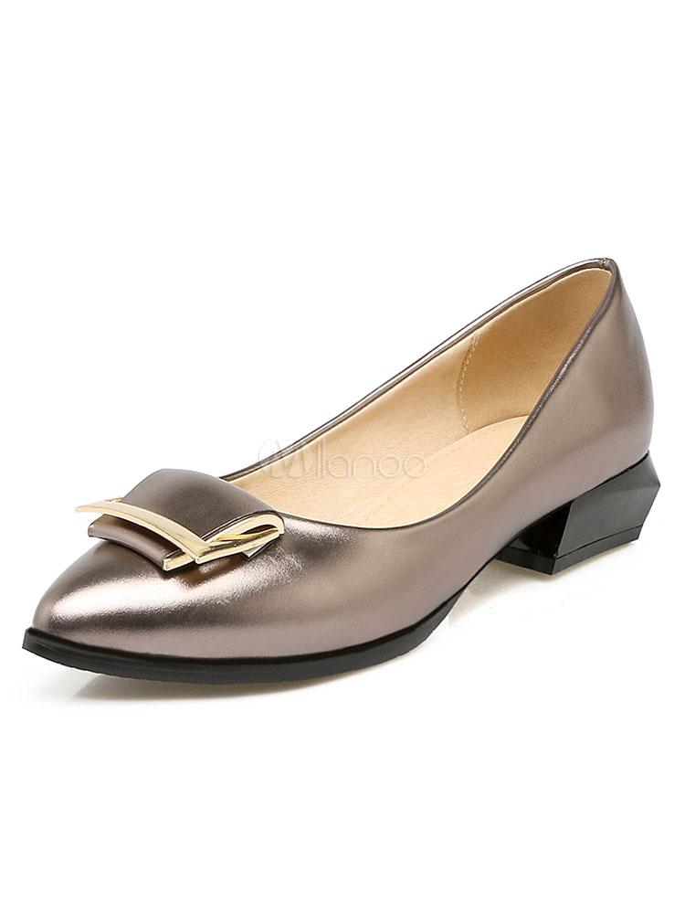 Zapatos planos de tacón de puppy de estilo de ballet de puntera puntiaguada para mujer cómodos Color liso para día de fiesta 2hTJmml