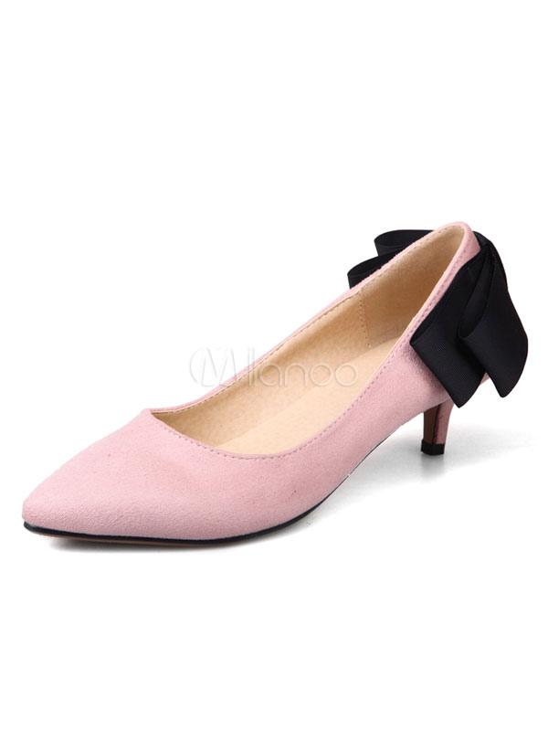 Pu De Transpirables Puntiaguada Medio Estilo Moderno Kitten Tacón Puntera Zapatos nm8wN0