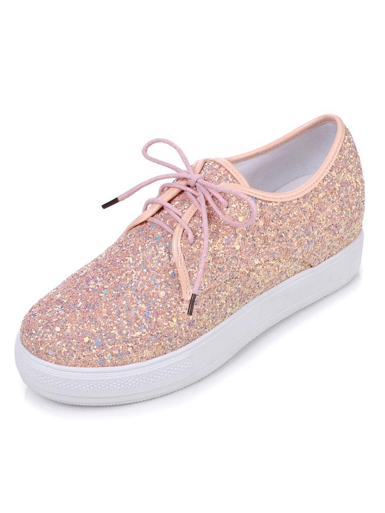 Zapatos con cinta Tela-brillantes estilo informalOtoño/Primavera st4b1
