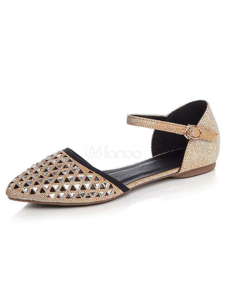 Zapatos planos Planos de puntera puntiaguada para mujer Color liso para ocasión informal LafLrW2