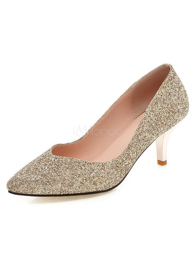 69390f73aa3 ... Red Glitter Pumps Pointed Toe Women s Slip On Kitten Heel Pump Shoes-No.  ...