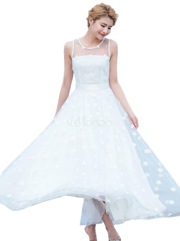 Robe de soiree blanche tulle