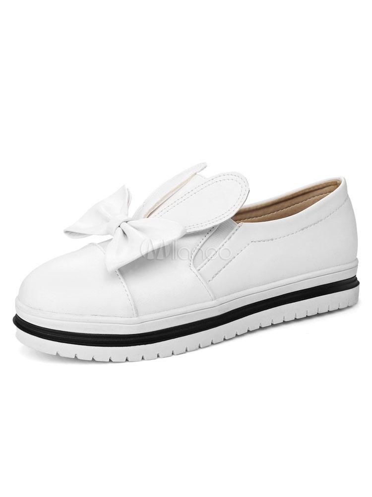 Zapatos Mocasín de puntera redonda para mujer para ocasión informal Color liso m6euL