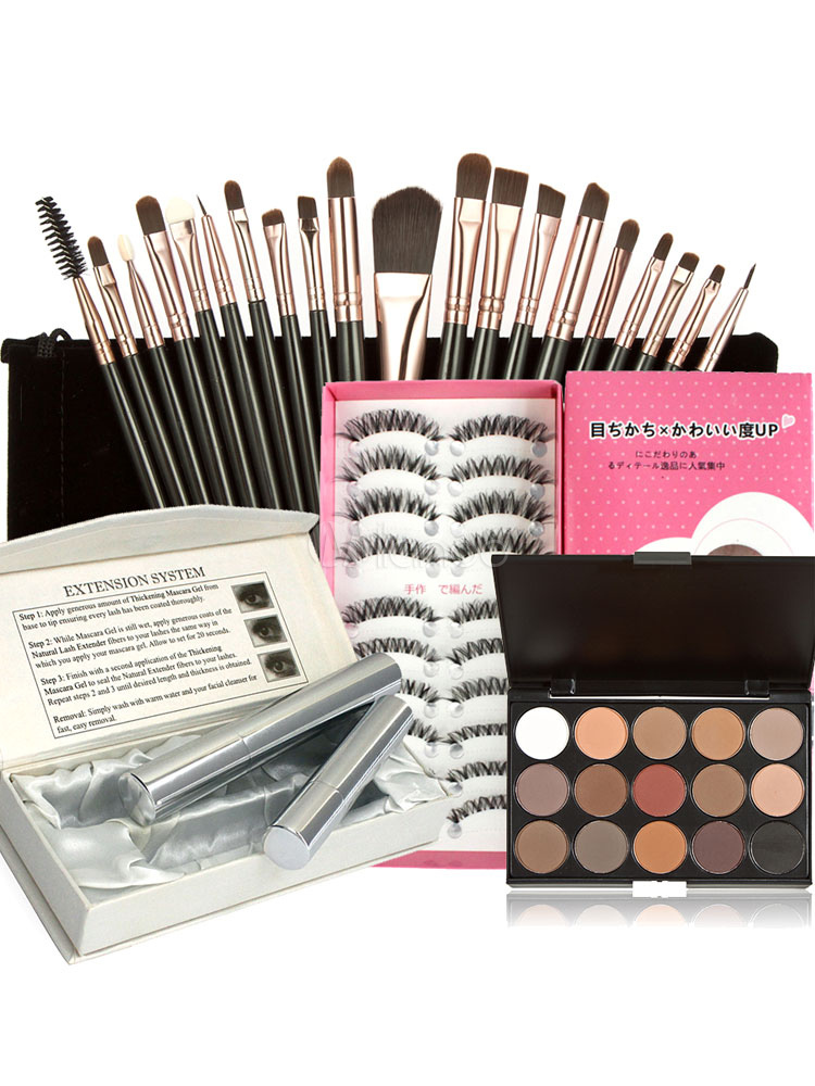Eye Makeup Combo Eye Brushes Eyeshadow Palette And Mascara With Fake