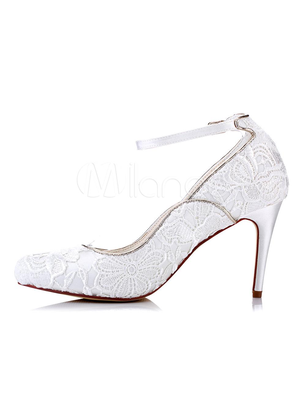 Zapatos de tacón de stiletto de puntera puntiaguada de satén de marfil elegantes Fiesta de bodas nyEVQDbZoW