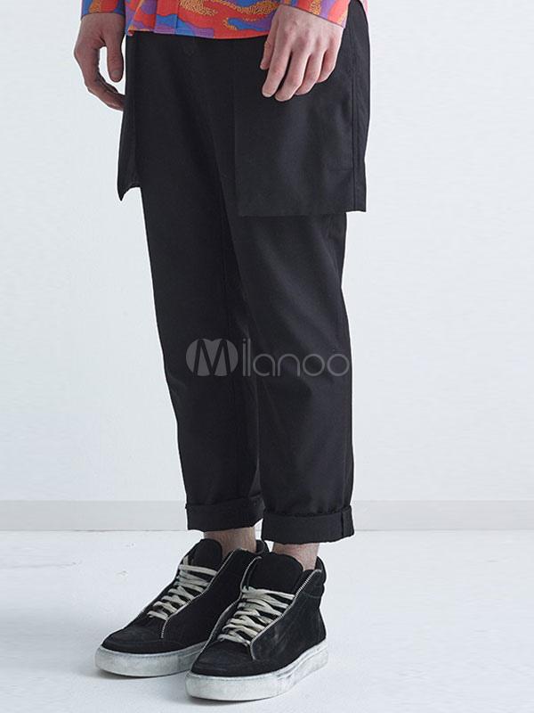 jambe droite pantalons pantalons chic pour hommes design noir jupe. Black Bedroom Furniture Sets. Home Design Ideas