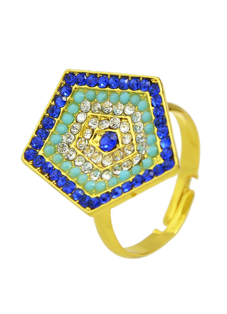 Buy Bohemian Women's Rings Alloy Geometric Pentagon Shape Embellished Rings for $1.99 in Milanoo store