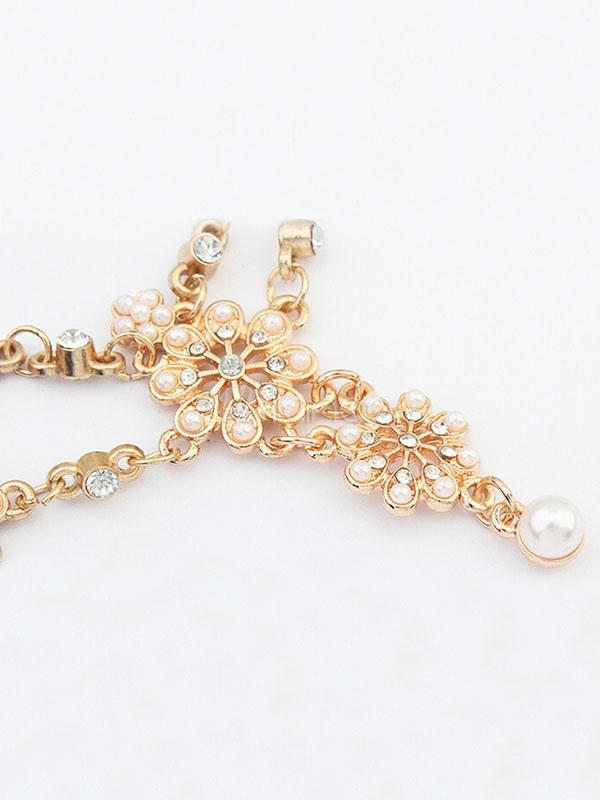 testa d 39 oro band boho perline accessori per capelli delle donne di fronte catene. Black Bedroom Furniture Sets. Home Design Ideas