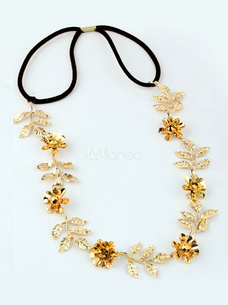 Gold Leaf Headband Women's Hair Accessories Cheap clothes, free shipping worldwide