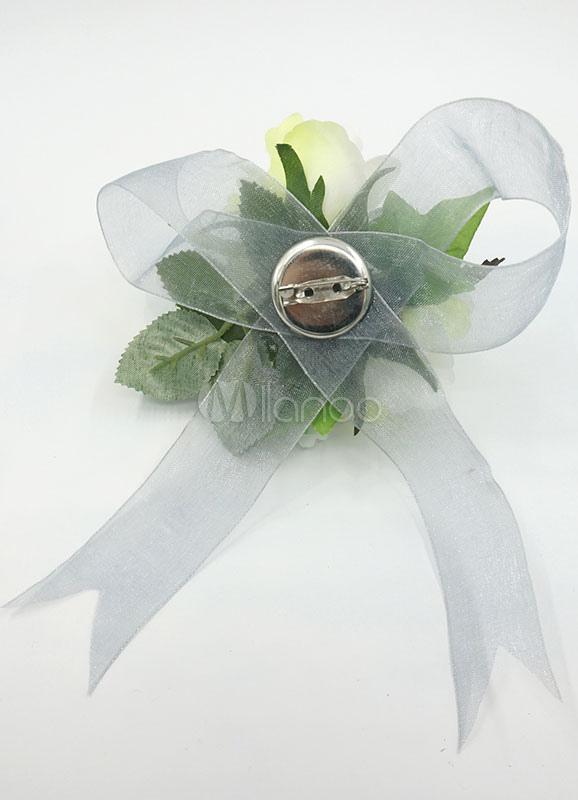 Amato Matrimonio fiore Bracciale insieme di fiori di seta verde salvia  EV44