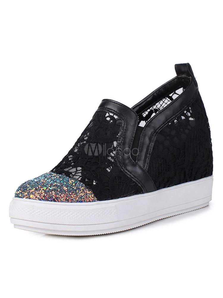 Zapatos Mocasín de puntera redonda para mujer para ocasión informal estilo informal adornado con encaje VYmIa