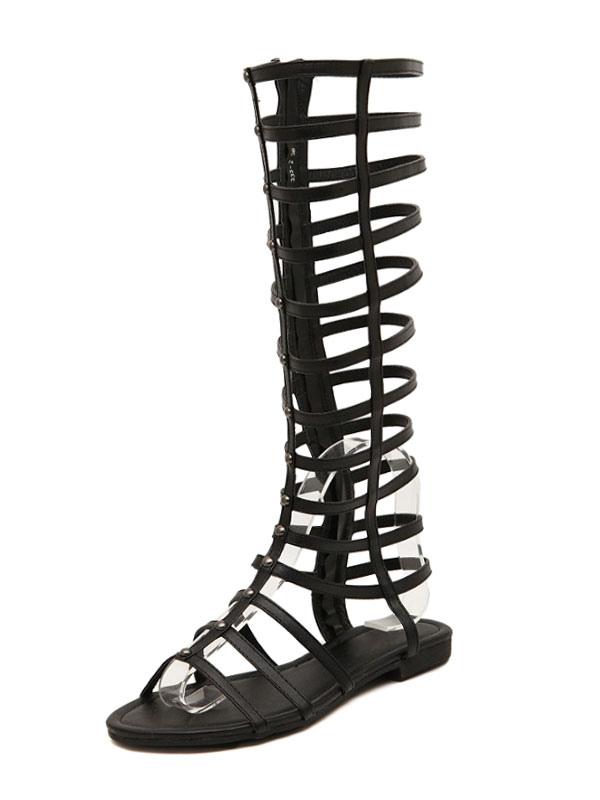 6b079ed67dfe ... Gold Gladiator Sandals Women s Zip Up Wide Calf Sandal Shoes-No. ...