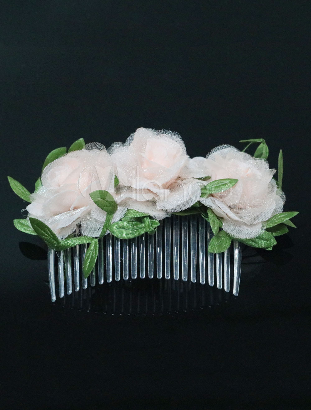 Buy Comb Wedding Headpieces Flowers Champagne Bridal Hair Accessories for $8.54 in Milanoo store