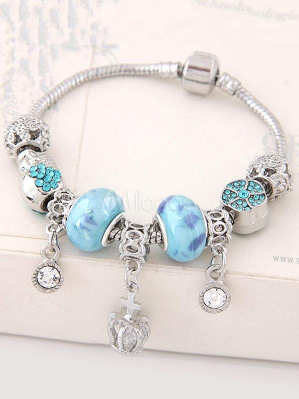 Buy Women's Stretch Bracelet Beading Rhinestone Spring Charm Bracelet for $6.39 in Milanoo store