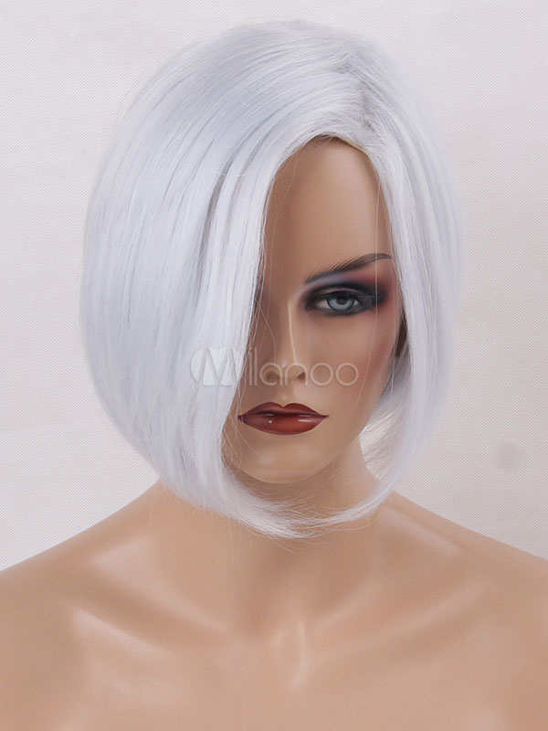 Bob Hair Wigs Women's Ivory Tousled Synthetic Wigs