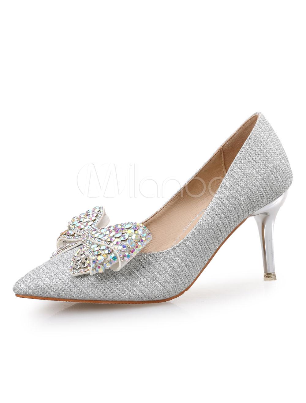 Zapatos de tacón medio de puntera puntiaguada de tacón gordo para aumentar la altura estilo modernopara pasar por la noche de tela Ry1gSO4F