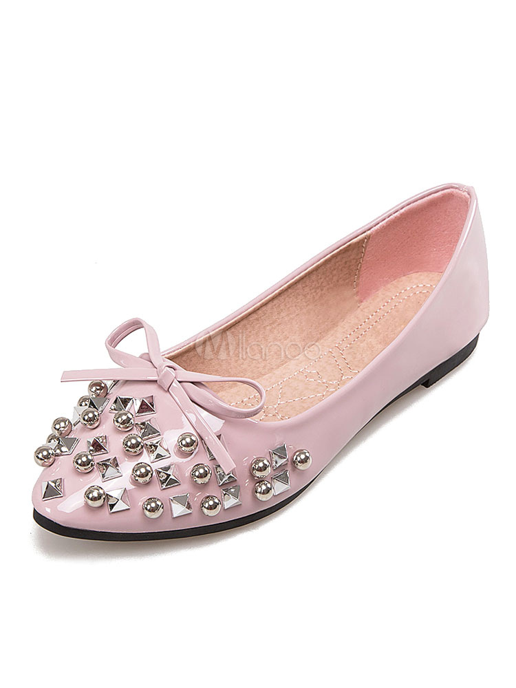 Zapatos planos de puntera puntiaguada slip-on Planos para mujer para ocasión informal estilo moderno con lazo HrnPRTKOl