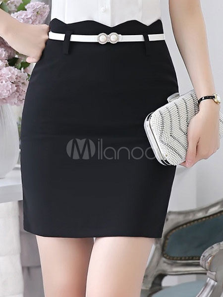 Women's Black Skirt Women's Short Pencil Suit Skirts Cheap clothes, free shipping worldwide