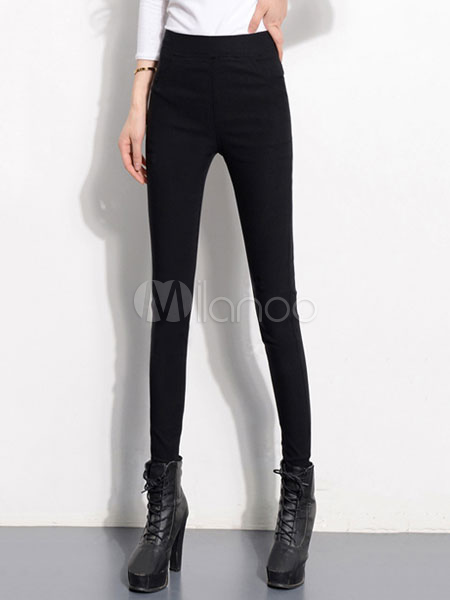 Black Skinny Pants Women's High Waist Slim Fit Tight Pants Cheap clothes, free shipping worldwide