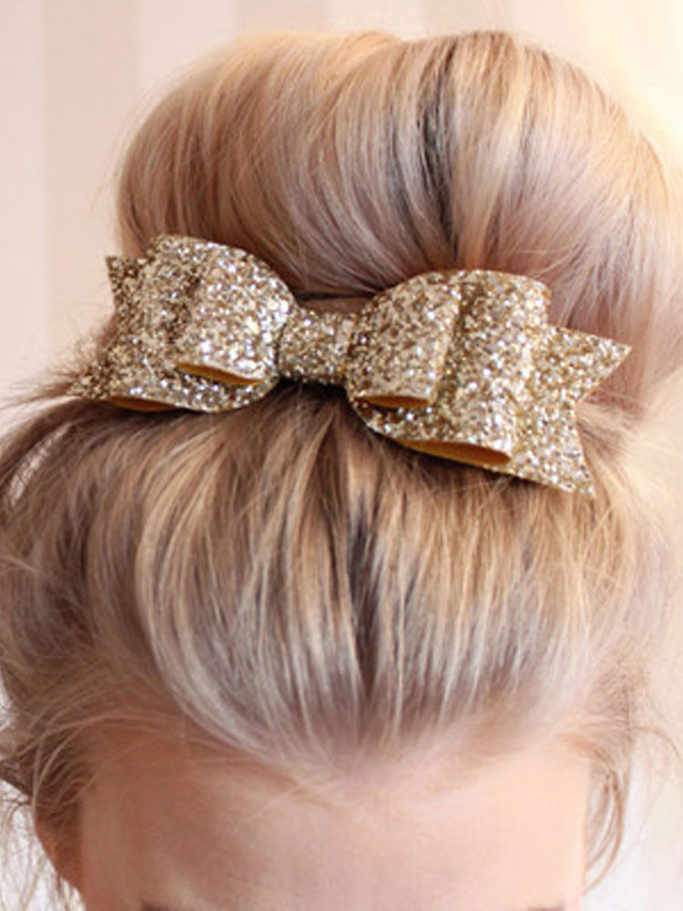 Sequin Hair Clip Bowknot Women Hair Accessory Cheap clothes, free shipping worldwide