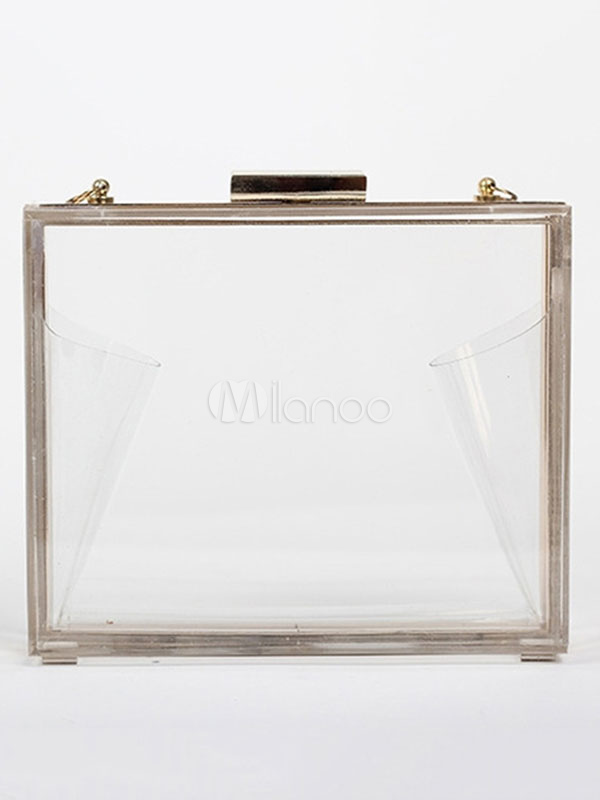 Buy Clear Evening Handbags Transparent Box Wedding Clutch Bag for $29.99 in Milanoo store