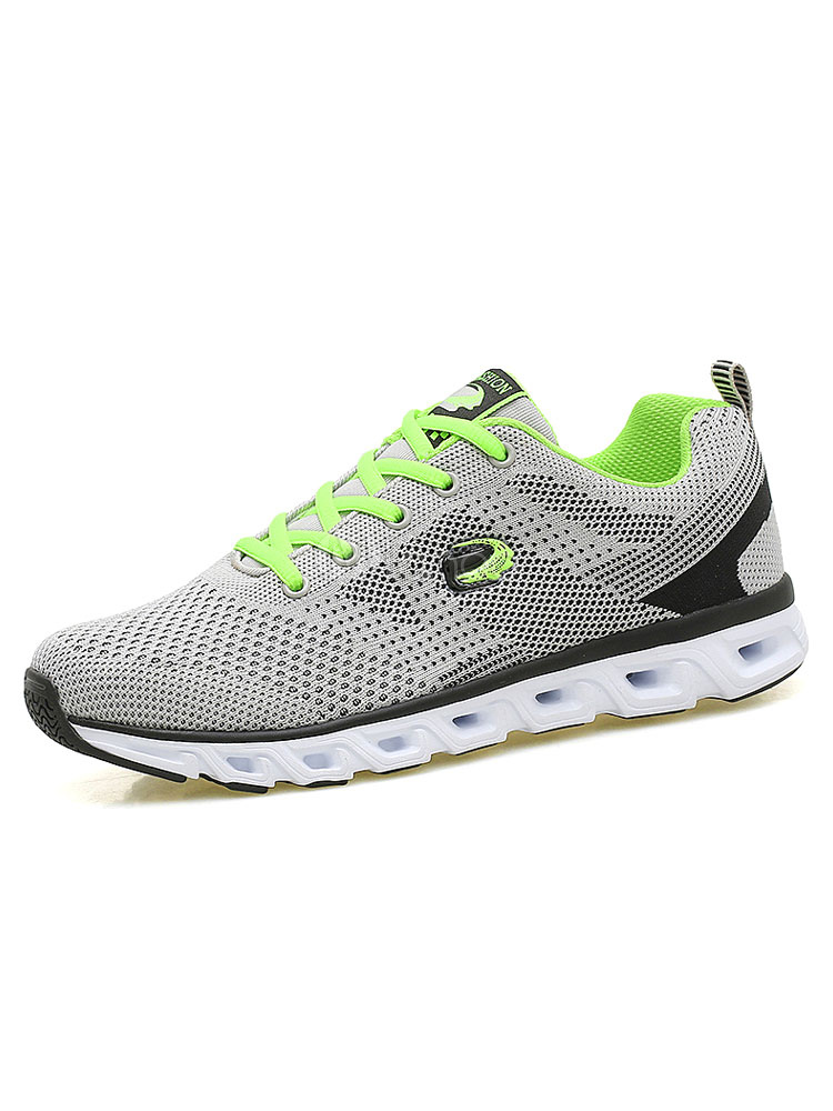 Buy Men's Casual Shoes Mesh Color Block Round Toe Lace Up Breathable Comfy Sneakers for $33.29 in Milanoo store