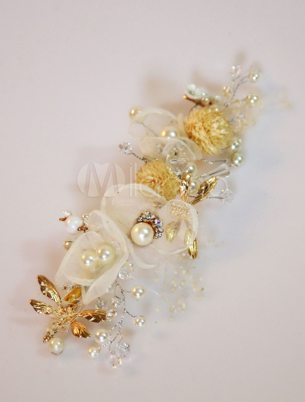 Buy Flower Wedding Headpieces Pearls Bridal Hair Accessories for $11.99 in Milanoo store