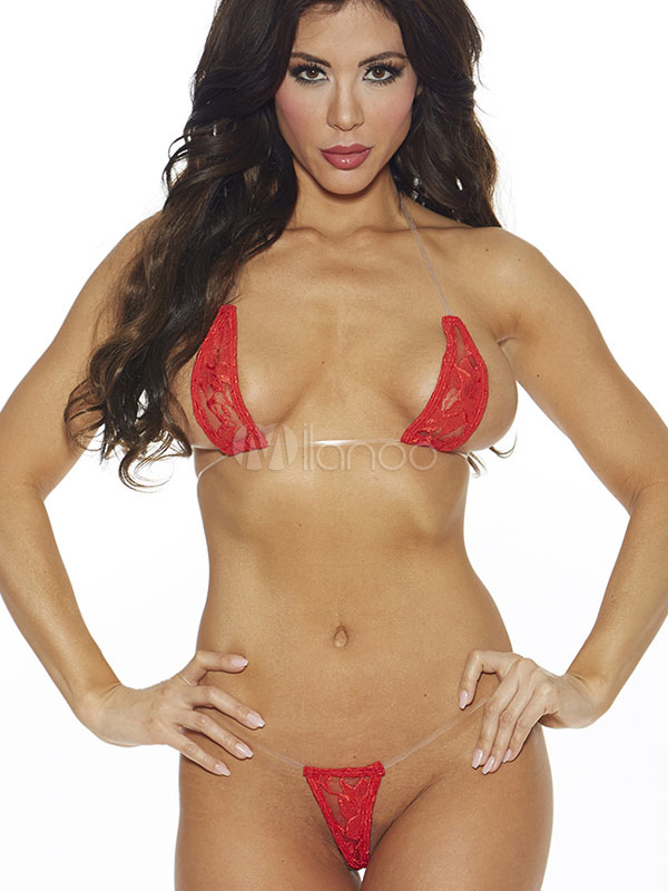 Lace Bra Set Red Open Bust Backless Sexy Lingerie Set Cheap clothes, free shipping worldwide