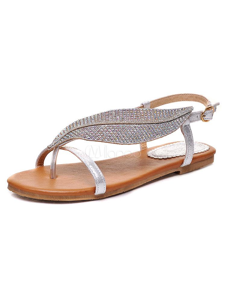 Style Sandales Plates Ethnique Femmes D'orteil Anneau Glittering srBtxhQCdo