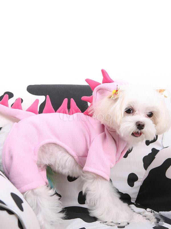 Disfraz de mascota de pana para perro Dinosauria rosa de dinosaurio ...