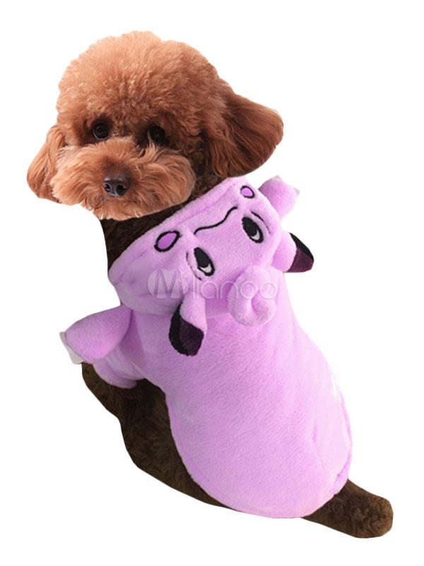 Disfraz de mascota de terciopelo para perro Pokemon rosa gracioso ...