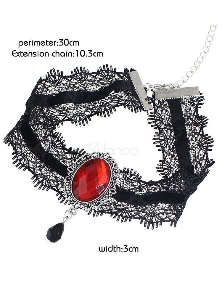 39fe06d19f9c ... Collar De malla de encaje estilo moderno para mujer para pasar por la  noche -No