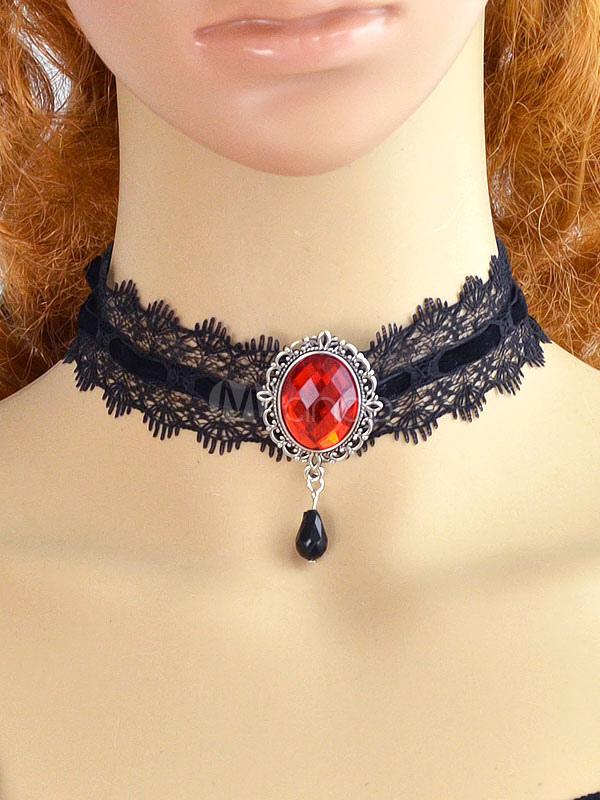 50b140314cb6 Collar De malla de encaje estilo moderno para mujer para pasar por la noche  -No ...