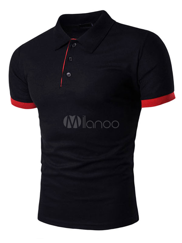 Women Black Polo Shirt