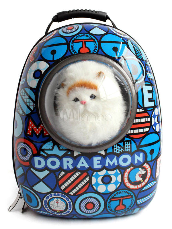 Buy Traveler Bubble Backpack Blue Doraemon Print Pet Carriers For Cats And Dogs Halloween for $79.99 in Milanoo store